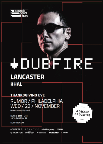 Dubfire w/ Lancaster  at Rumor Nightclub