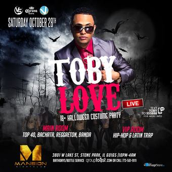 Toby Love Live @ The Mansion (Halloween Costume Party)