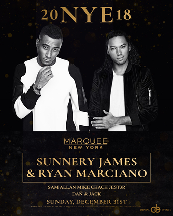 2018 NYE at Marquee NYC