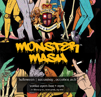 Monster Mash at Pound & Pence (Open Bar 9-10)
