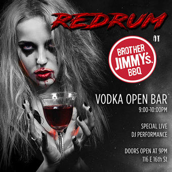 REDRUM at Brother Jimmys Halloween