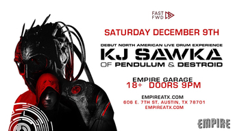 KJ Sawka of Pendulum & Destroid: Debut North American Live Drum Experience - Empire Control Room & Garage, Austin TX