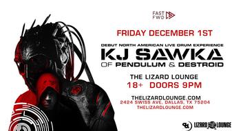 KJ Sawka of Pendulum & Destroid: Debut North American Live Drum Experience - Lizard Lounge, Dallas TX