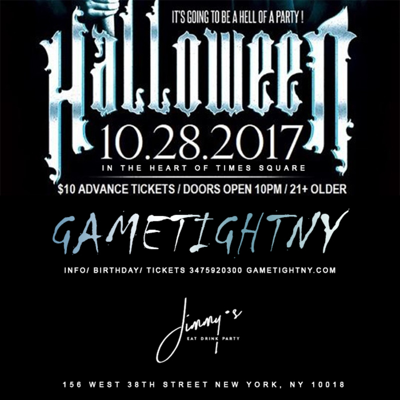 jimmy's nyc halloween party 2017 - jimmys nyc, new york, ny