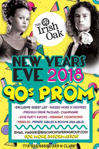 Irish Oak NYE: 90s Prom