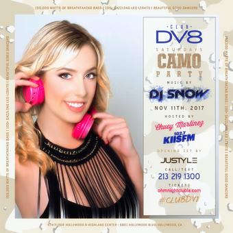 CLUB DV8's Camouflage Veteran's Day Party w/ DJ Snow