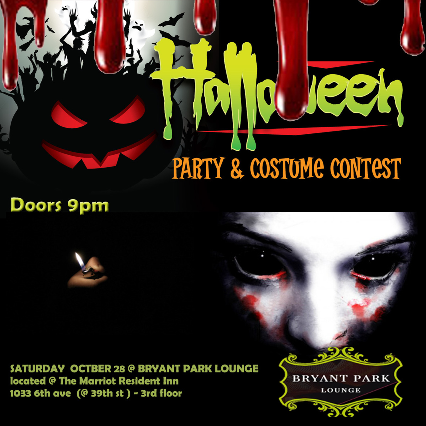 Halloween Party At Bryant Park Lounge - Tickets - Bryant