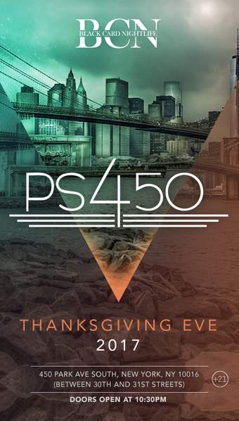 Thanksgiving Eve 2017 @ PS450