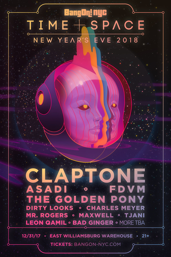 BangOn!NYC New Year's Eve 'Time & Space' 2018 w/ Claptone