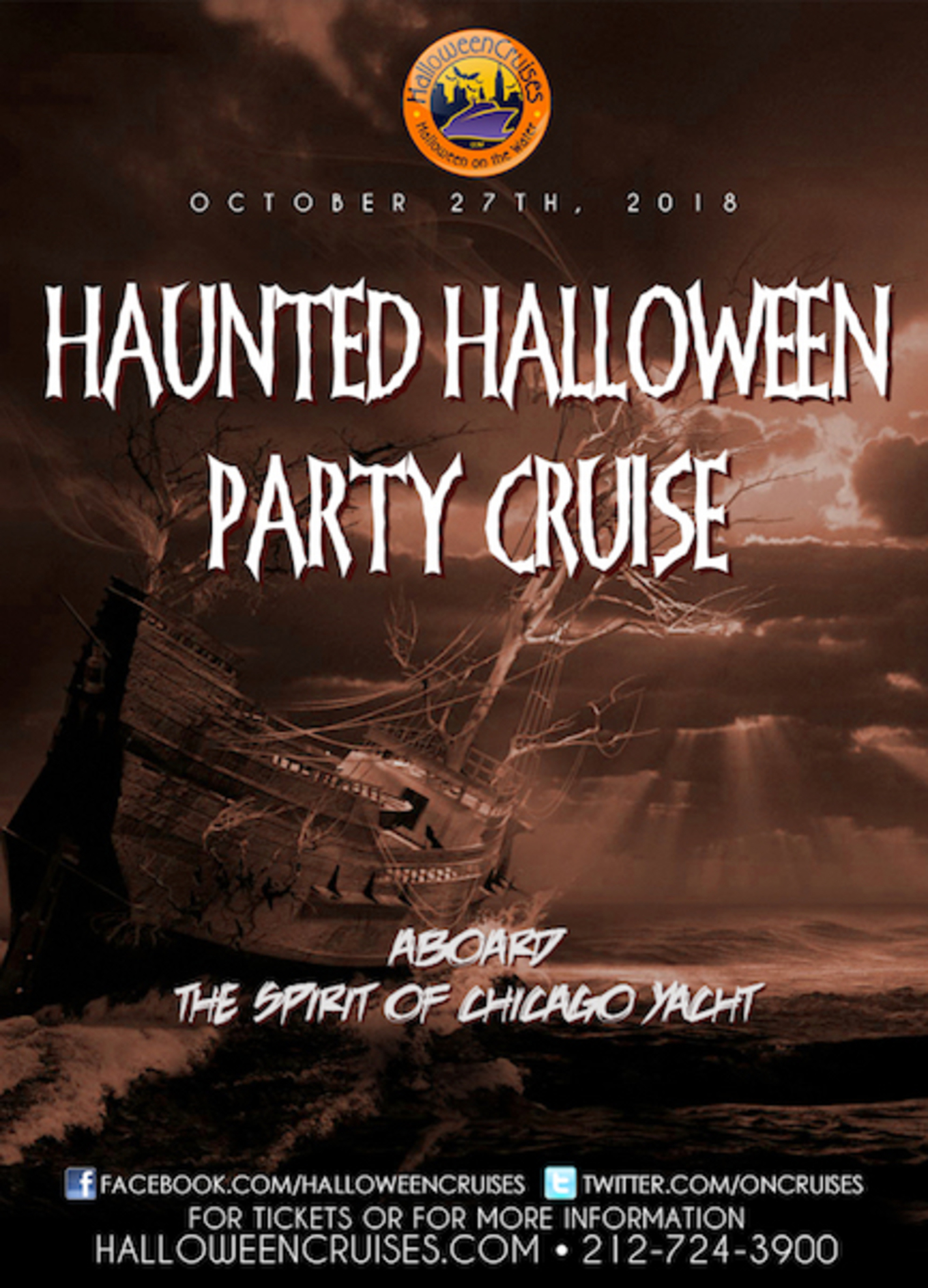 the haunted halloween party cruise aboard the spirit of chicago