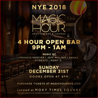 New Year's Eve 2018 at Magic Hour