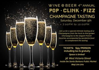 4th Annual Champagne Tasting at Wine + Beer!