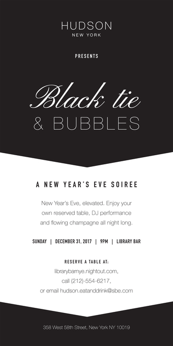 Black Tie & Bubbles - A New Year's Eve Soirée at Library Bar
