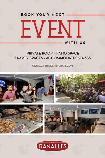 Book Your Next Event With Us at Ranalli's