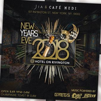 New Years Eve 2018 at Hotel On Rivington