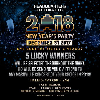 NEW YEAR'S EVE PARTY & CONCERT TICKET GIVEAWAY