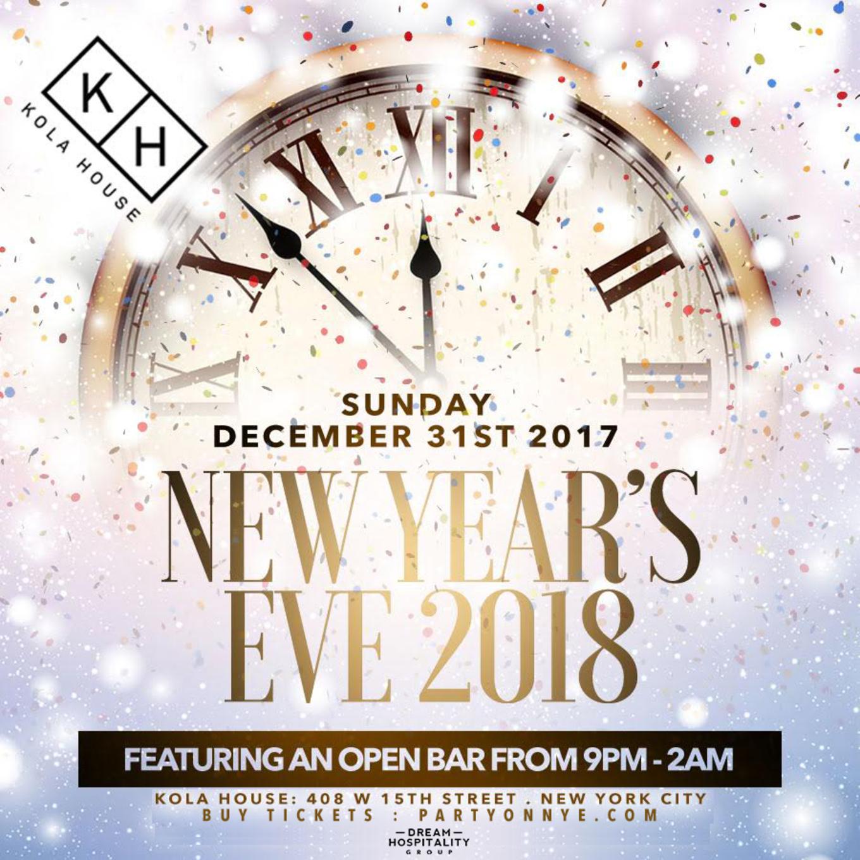 Kola House New Years Eve 2018! - Tickets - Kola House, New York, NY ...