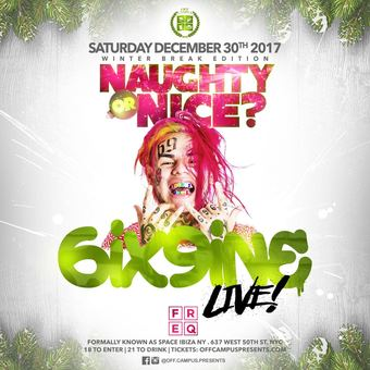 Naughty or Nice at FREQ in NYC for Winter Break 2017 (18+)