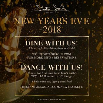 Stanton Social's New Year's Eve Bash