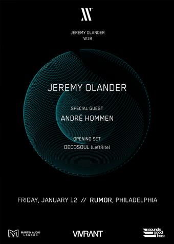 Vivrant Music w/ Jeremy Olander, André Hommen at Rumor
