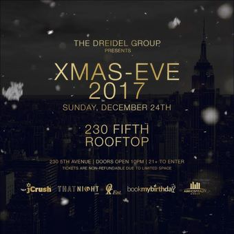 Christmas Eve at 230 Fifth Rooftop
