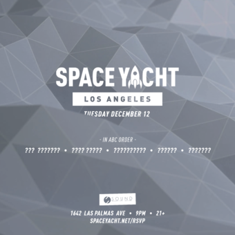 SPACE YACHT 12/12