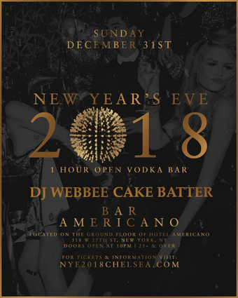 New Year's Eve at Bar Americano in Chelsea