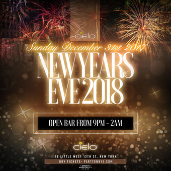CIELO New Years Eve (Open Bar 9pm-2am)