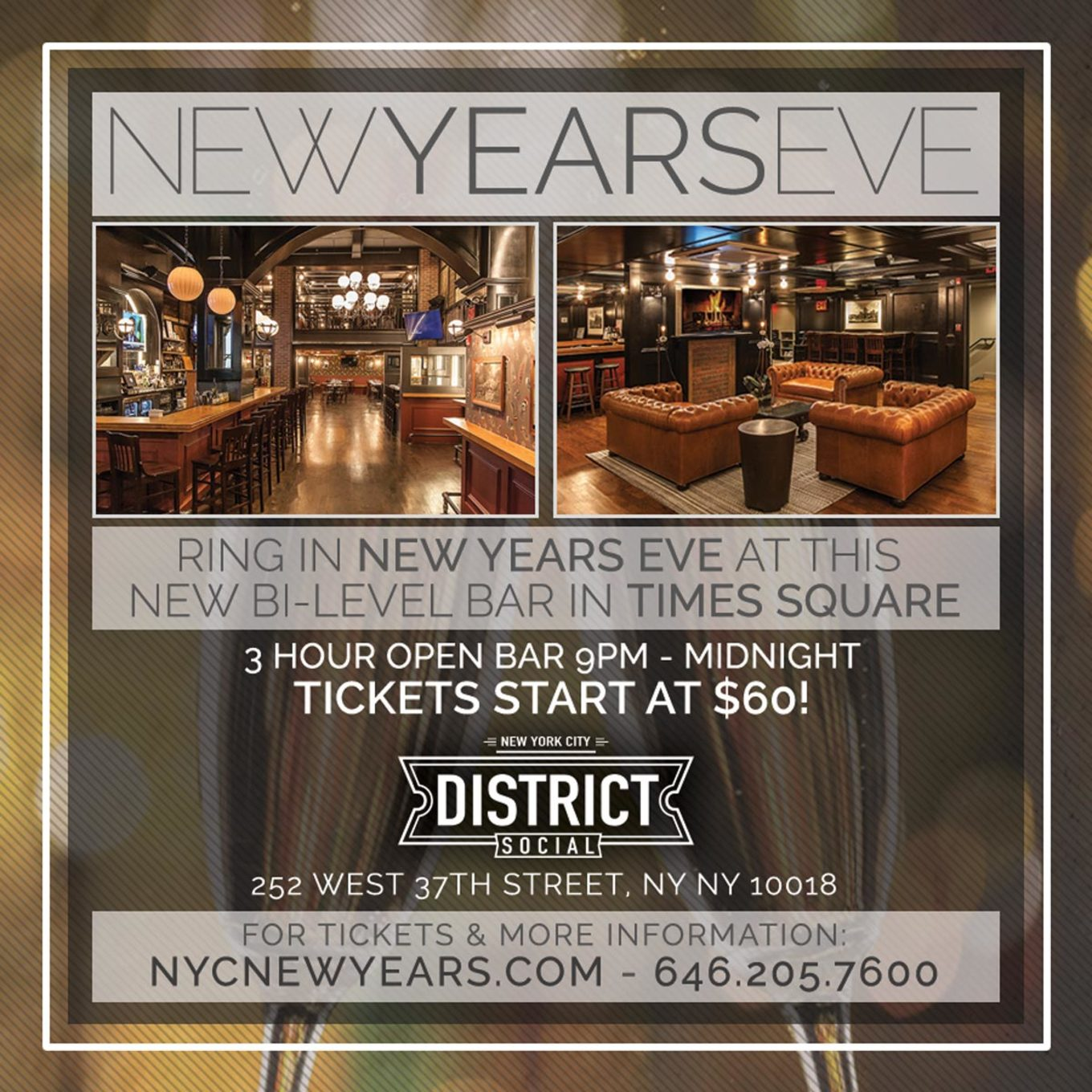 New Years Eve At District Social Tickets District Social Nyc New York Ny December 31 2017