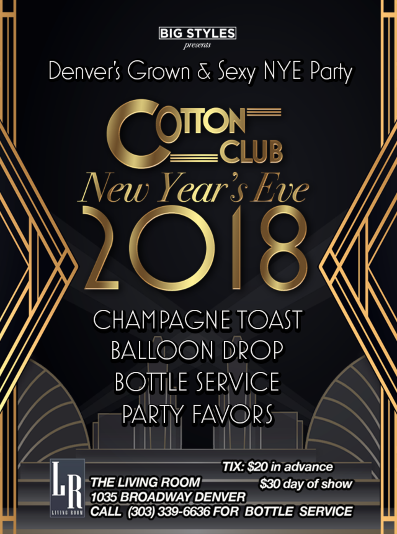 Cotton Club New Year\'s Eve at The Living Room - Tickets - The Living ...