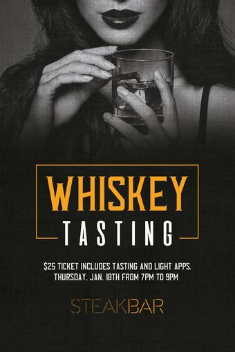 Whiskey Tasting at SteakBar