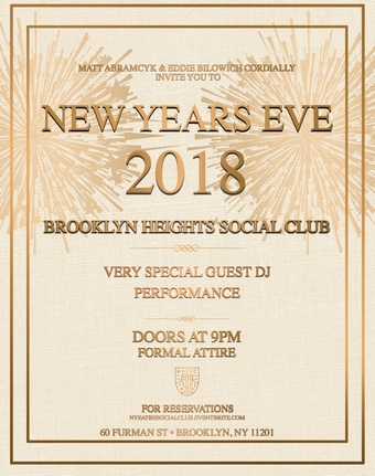 New Years Eve 2018 - Brooklyn Heights Social Club at 1 Hotel Brooklyn Bridge