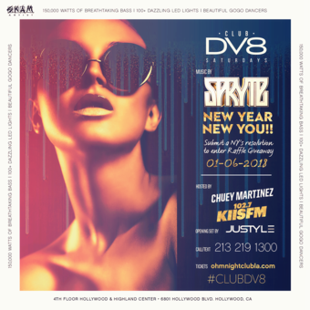 CLUB DV8's New Year, New You Party w/ DJ Spryte