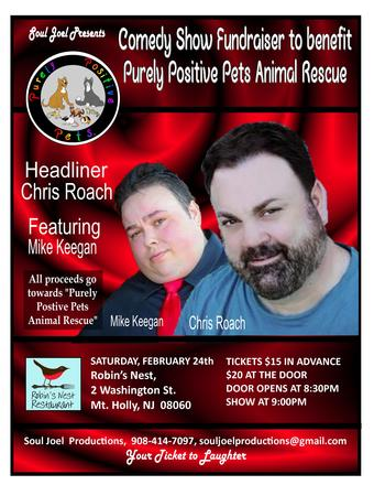 Mount Holly: Comedy Fundraiser for Purely Positive Pets Animal Rescue