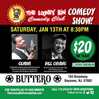 Bayonne:  Comedy Night at Buttero