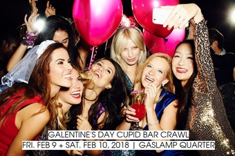 2018 Galentine's Day Cupid Bar Crawl | Fri. Feb 9 + Sat. Feb 10