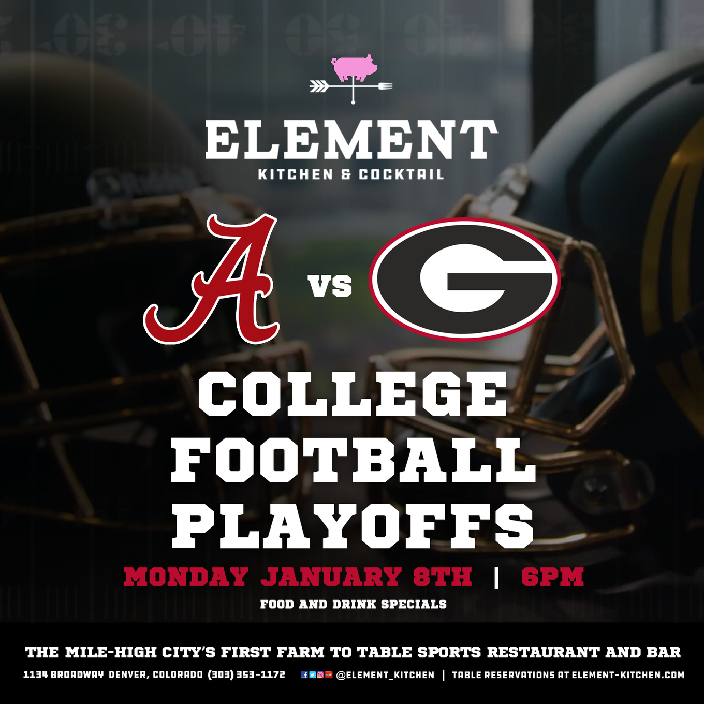 College Football Championship - Alabama vs Georgia - Element