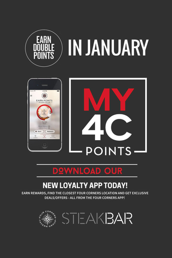 MY4C DOUBLE POINTS January at SteakBar