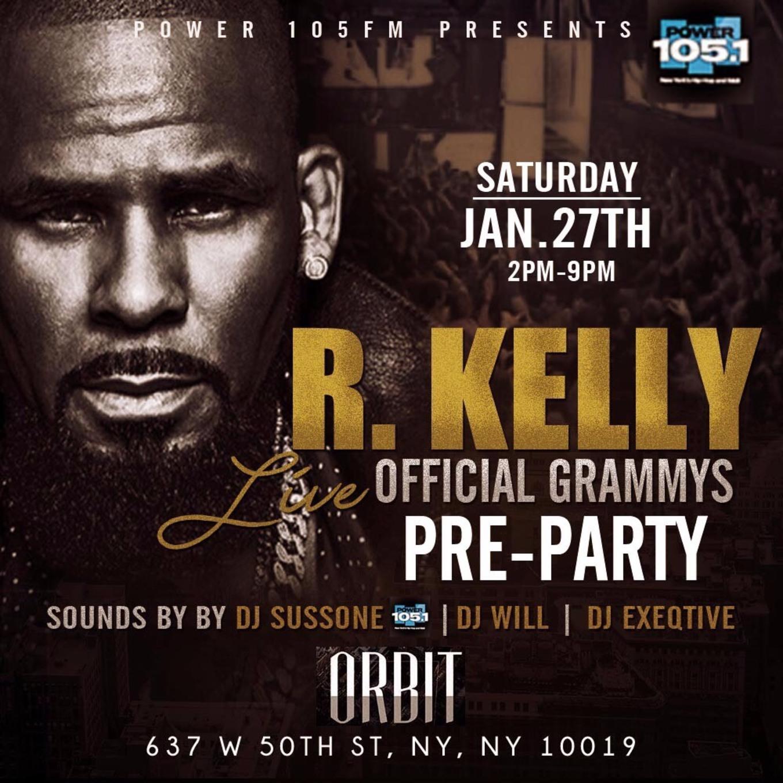 R  Kelly Live + 1 Hour Open Bar - Tickets - Orbit, New York