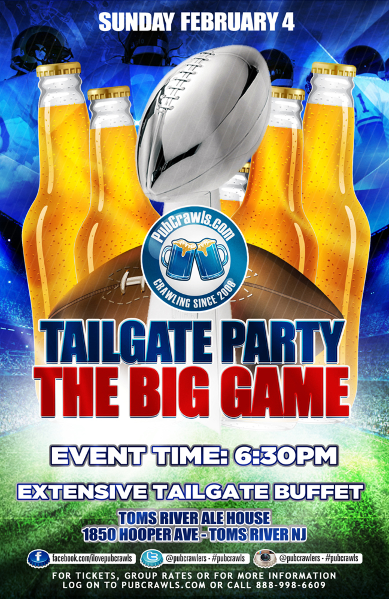 Fine The Big Game Indoor Tailgate Party At Toms River Ale House Interior Design Ideas Oxytryabchikinfo
