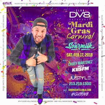 CLUB DV8's Mardi Gras Carnival with Dj Sour Milk