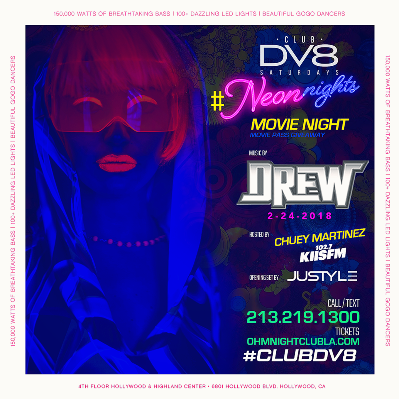 Mwwb Tour With Ohmms In February: CLUB DV8's #NeonNights Movie Night W/ DJ Drew