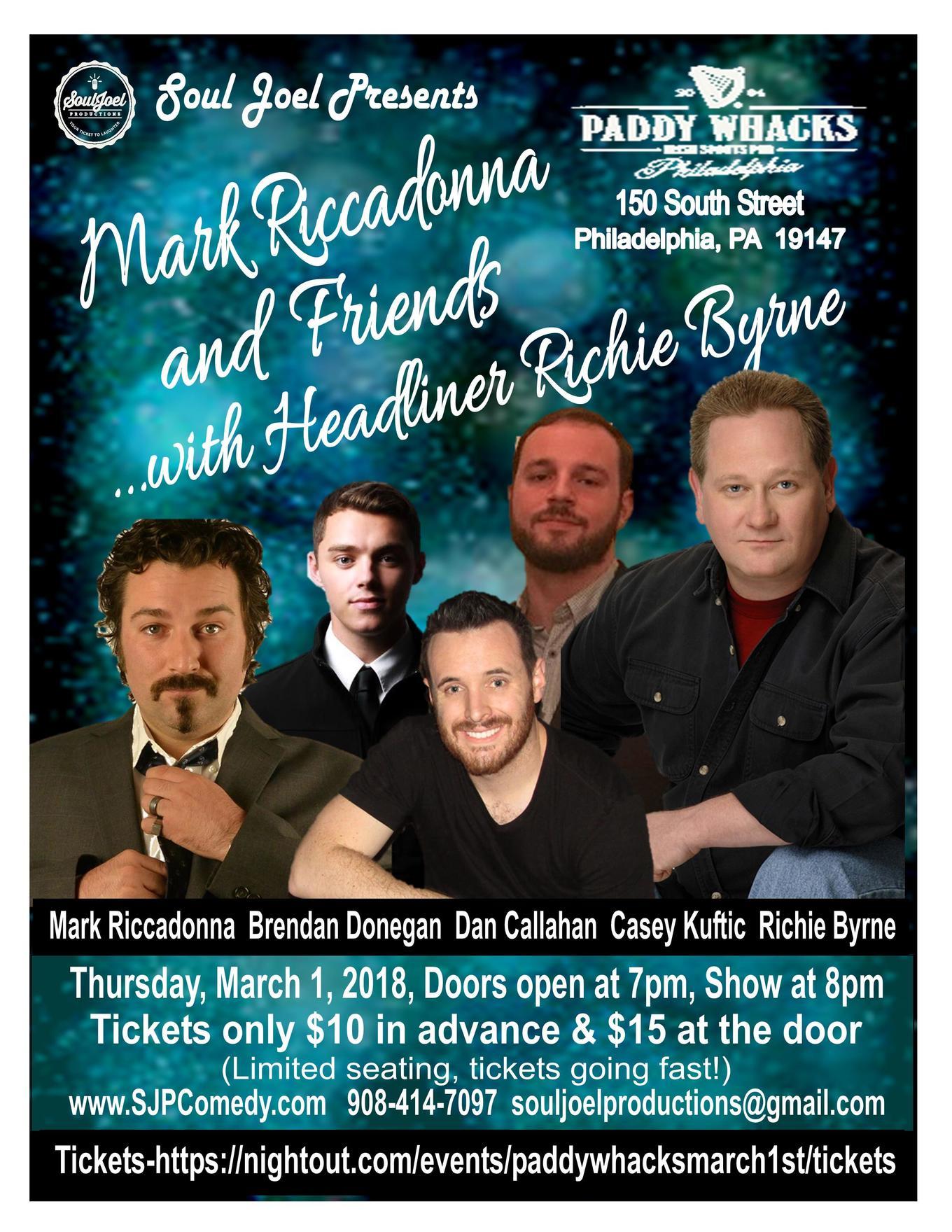 Philadelphia Mark Riccadonna and Friends  sc 1 st  NIGHTOUT & Philadelphia: Mark Riccadonna and Friends - Tickets - Paddy ...