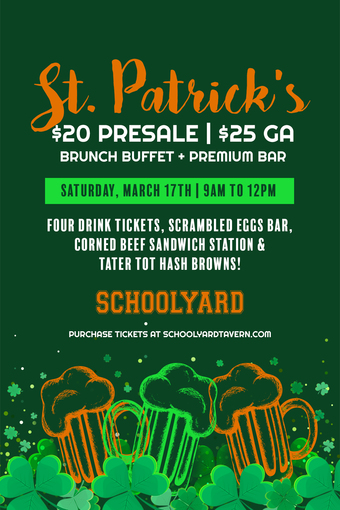 St. Patrick's Day Party at Schoolyard 2018
