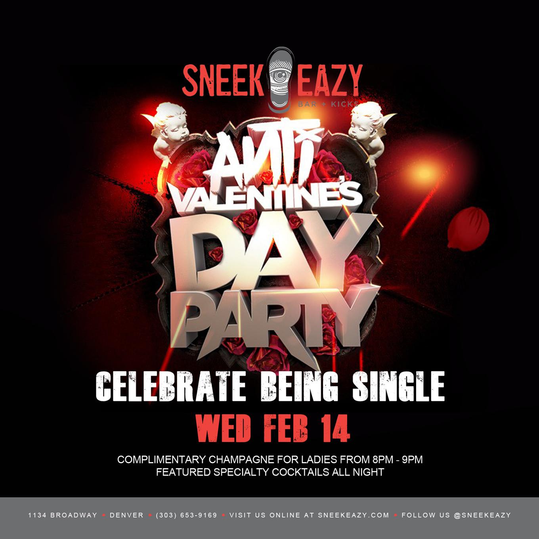 Anti Valentines Day Party Tickets Sneekeazy Denver Co