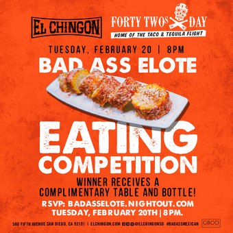 Forty-Twosdays Elote Eating Competition