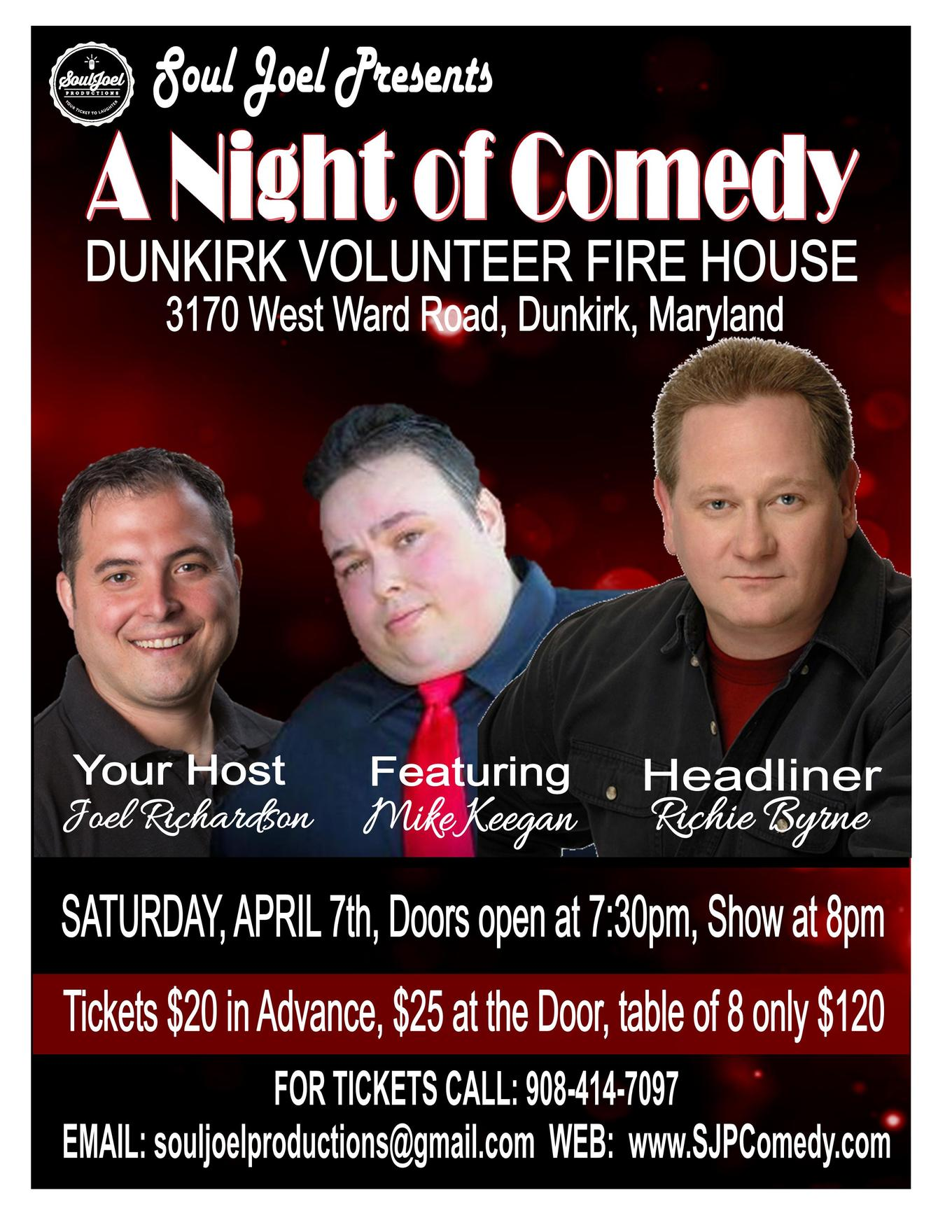 Maryland: Comedy Show at Dunkirk Volunteer Fire Department - Tickets