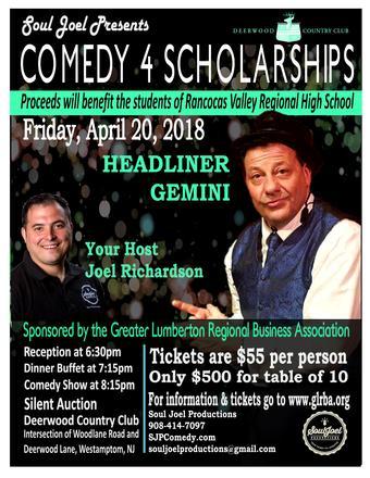 Westampton: GLRBA Comedy 4 Scholarships Fundraiser