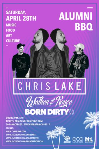 Alumni BBQ ft. Chris Lake, Walker & Royce, Born Dirty at EOS Lounge 4.28.18