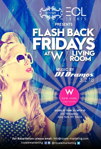 Flashback Friday's @ W/Living Room